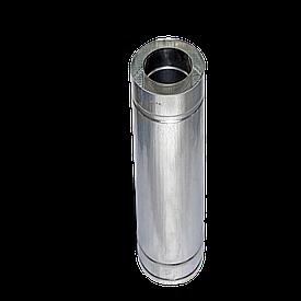 Труба дымоходная утепленная нержавеющая сталь 304 в оцинковке