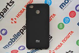 Оригинальный Силиконовый Чехол для Xiaomi Redmi 4X Silicone Cover (Черный)