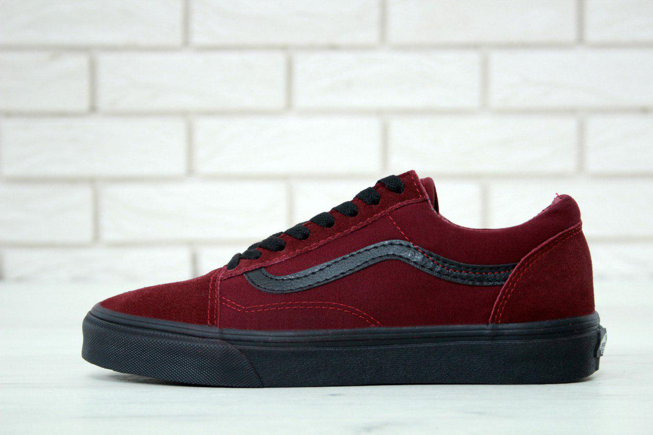 Кеды Vans Old Skool бордовые с черным 11442 - Bigl.ua fdfc37be8100c