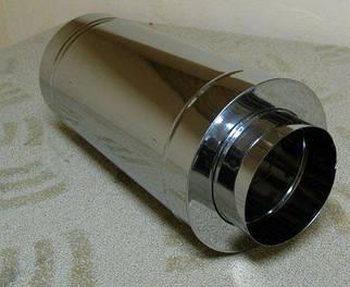 Труба дымоходная утепленная нержавеющая сталь 304 в нержавеющей стали 430