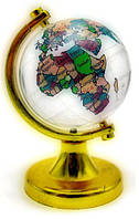 Глобус хрустальный цветной 6049