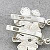 """Серебряные серьги """"Бабочка"""", размер 38*20 мм, вставка красные фианиты, вес 7.89 г, фото 3"""