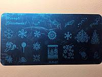 Пластина для стемпинга (металлическая) XLR-07