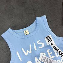 Костюм для мальчика голубая футболка и шорты, фото 2