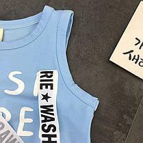 Костюм для мальчика голубая футболка и шорты, фото 3