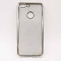 Чехол накладка для Huawei Honor 9 Lite силиконовый, Remax Case GLITTER, Серебристый