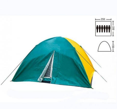 Палатка кемпинговая 6-и местная Zelart арт. SY-021 2,2х2,5х1,5м, фото 2