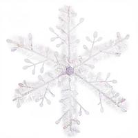 Елочная игрушка Снежинка Белая Большая (SKD-0098)