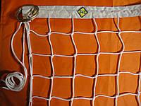 """Волейбольная сетка с тросом, шнур D 3,5мм., 10см. ячейка, для волейбола """"Элит 10"""""""