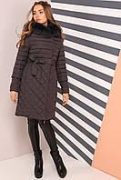 Женское зимнее пальто натуральный мех Мирайн,  р-ры 42 - 54, Новая коллекция  NUI VERY,