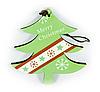 Подвеска Елка Merry Christmas Зеленая (SKD-0117)