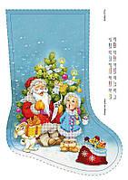 """Схема для вышивки бисером новогодний сапожок """"Новогоднее пение"""""""