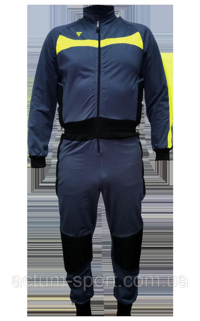 Вратарский комбинезон ArsenalCR Titar 3XS/XXS, т.серо/лимон/черный.