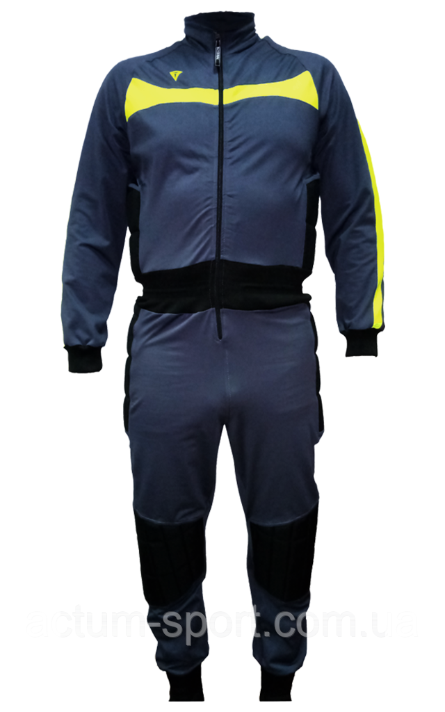 Вратарский комбинезон ArsenalCR Titar M/L, т.серо/лимон/черный.