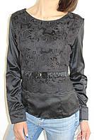 Рубашка женская черная 1348