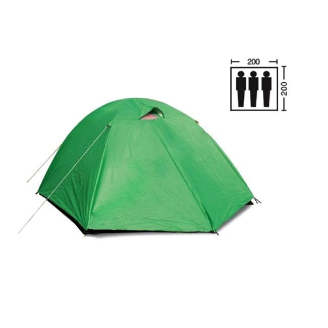 Палатка трехместная Mountain Outdoor SY-007, 200х200х135 см