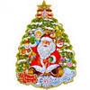 Плакат елка, Дед Мороз и Снегурочка. 6306–1