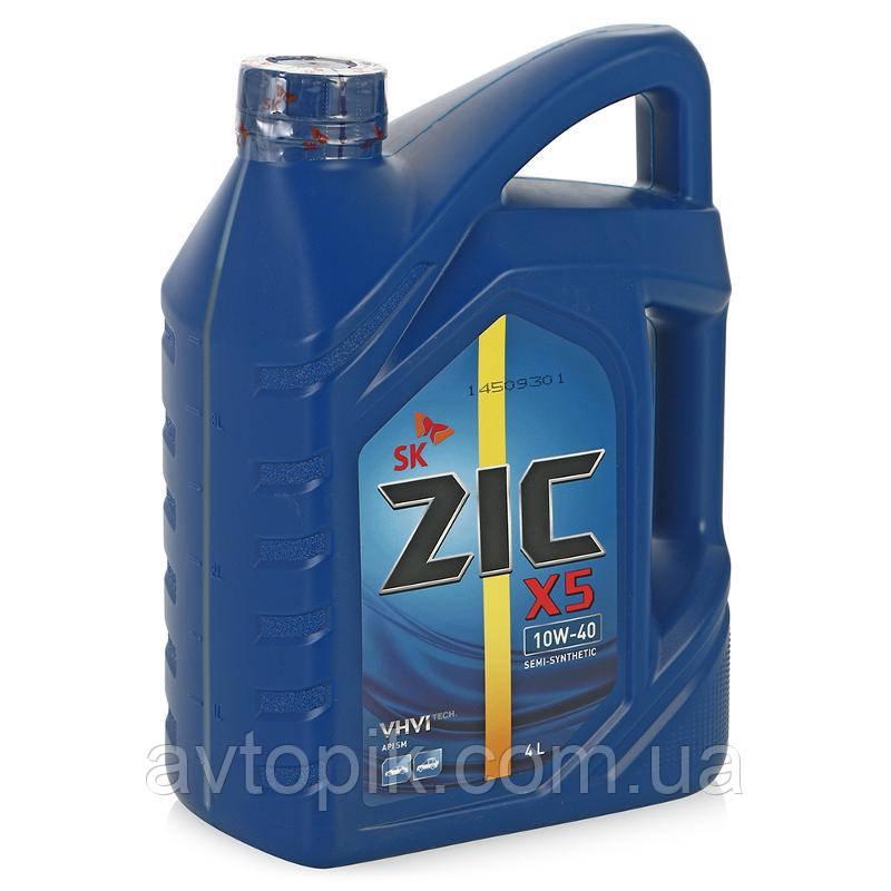 Моторное масло ZIC X5 10W-40 (4л.)