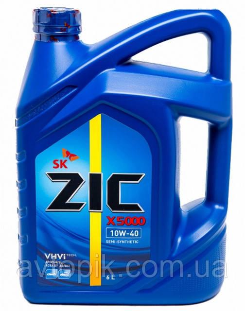 Моторное масло ZIC X5000 10W-40 (6л.)