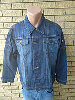 Куртка мужская джинсовая стрейчевая больших размеров  VIGOOCC