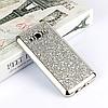 Гламурный силиконовый чехол для Samsung Galaxy J3 (2016) SM-J320F J320H J320 J36 J320FN с блесками Silver