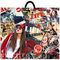 """Пакет плотный с петлевой ручкой """"Life fashion"""" 58х48 см. 25шт."""