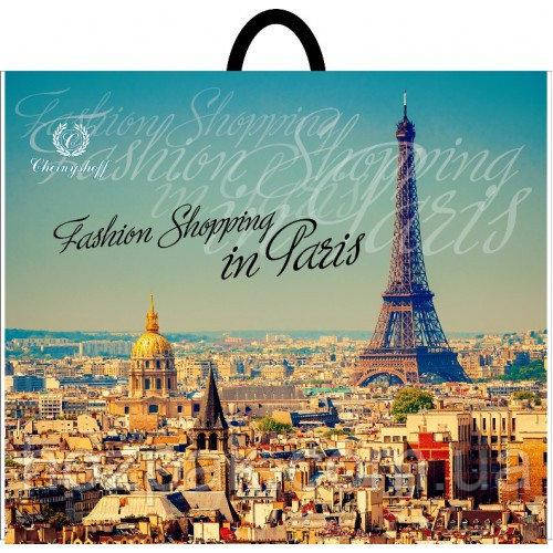 """Пакет плотный с петлевой ручкой """"Париж"""" 58х48 см. 25шт."""