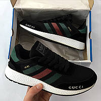 Кроссовки мужские Adidas Originals Iniki Runner Gucci ( реплика 1 в 1 оригинал)