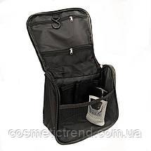 Косметичка/несессер дорожная раскладная подвесная унисекс Travel Bag/black, фото 3