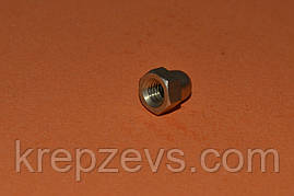 Гайка колпачковая М6 из латуни ГОСТ 11860-85, DIN 1587