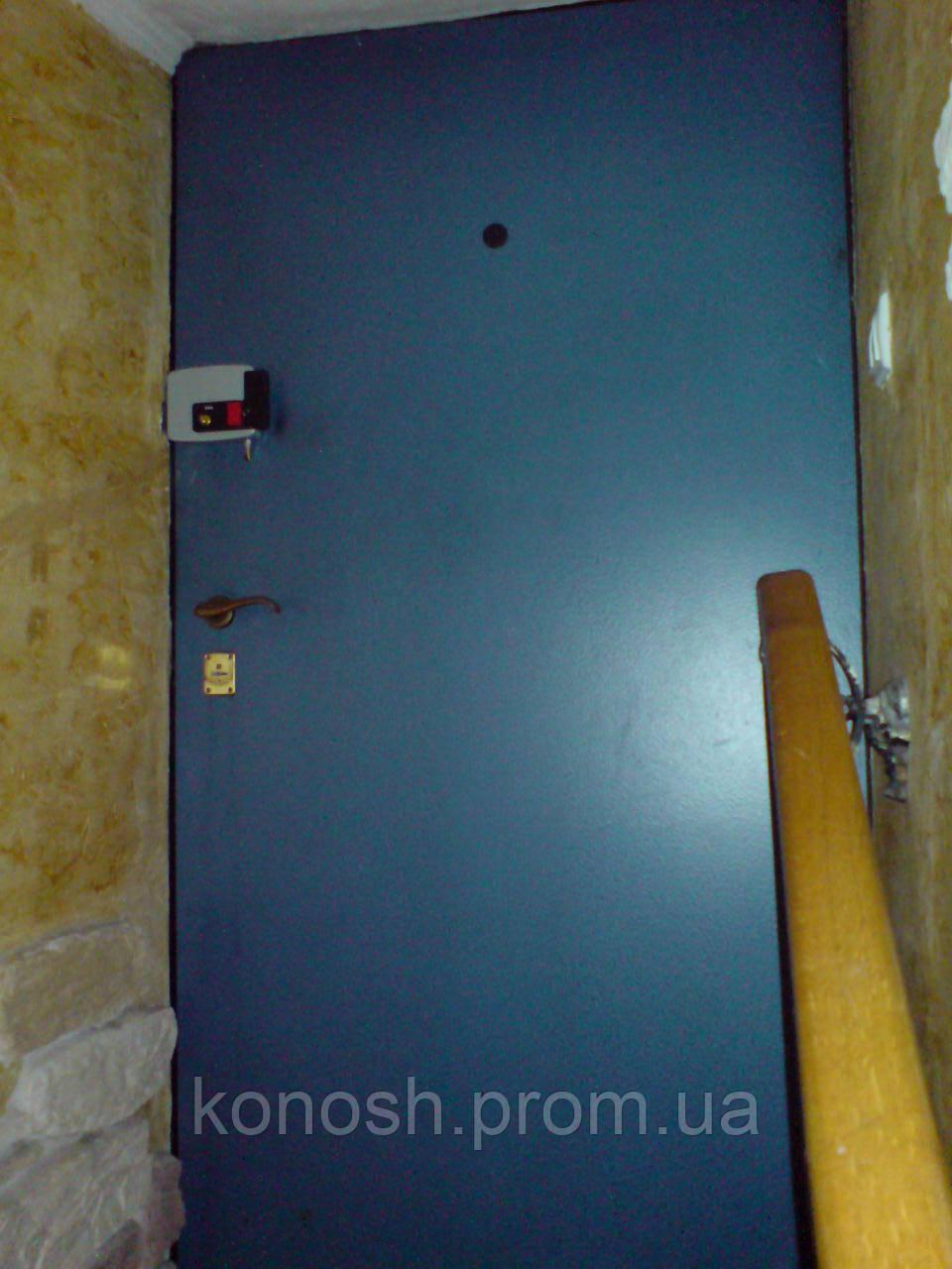 двери для подъезда с домофоном и электромеханическим замком