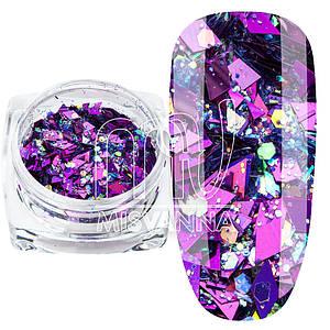 Ромбики микс ТМ-02, фиолетовый