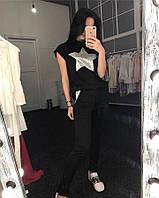 Стильная женская футболка с принтом звезда Новинка