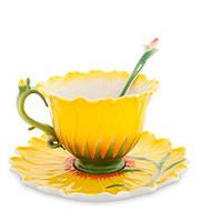 Порцеляновий чайна пара Соняшник Pavone FM - 01/23, фото 1
