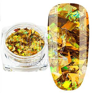 Ромбики микс ТМ-03, золото