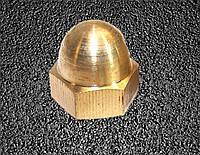Гайка колпачковая М18 из латуни ГОСТ 11860-85, DIN 1587, фото 1