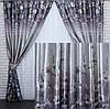 Богатый комплект штор серый в интернет магазине