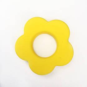 Колечко Цветок (желтый) силиконовое
