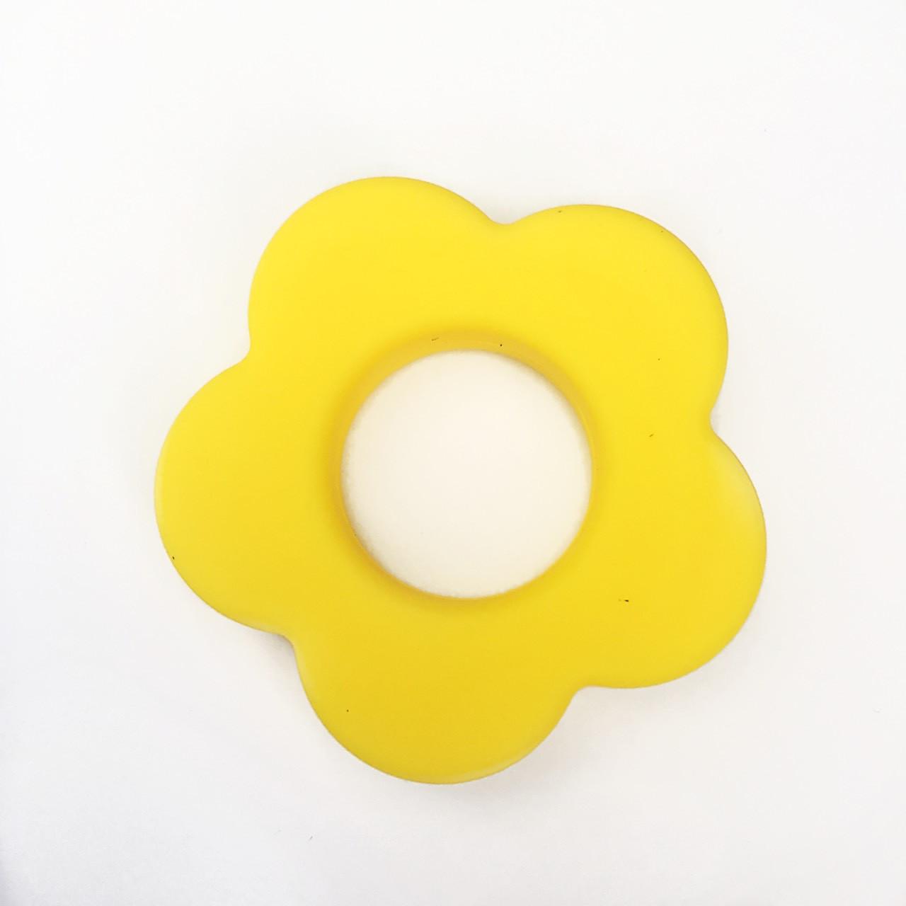 Колечко - Цветок (силиконовое) - Желтый - EASY HOBBY. Силиконовые бусины и фурнитура в Одессе
