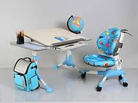 Детский письменный стол Mealux Rene-2 Blue с полками