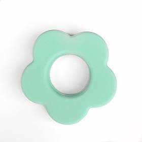 Колечко Цветок (мята) силиконовое