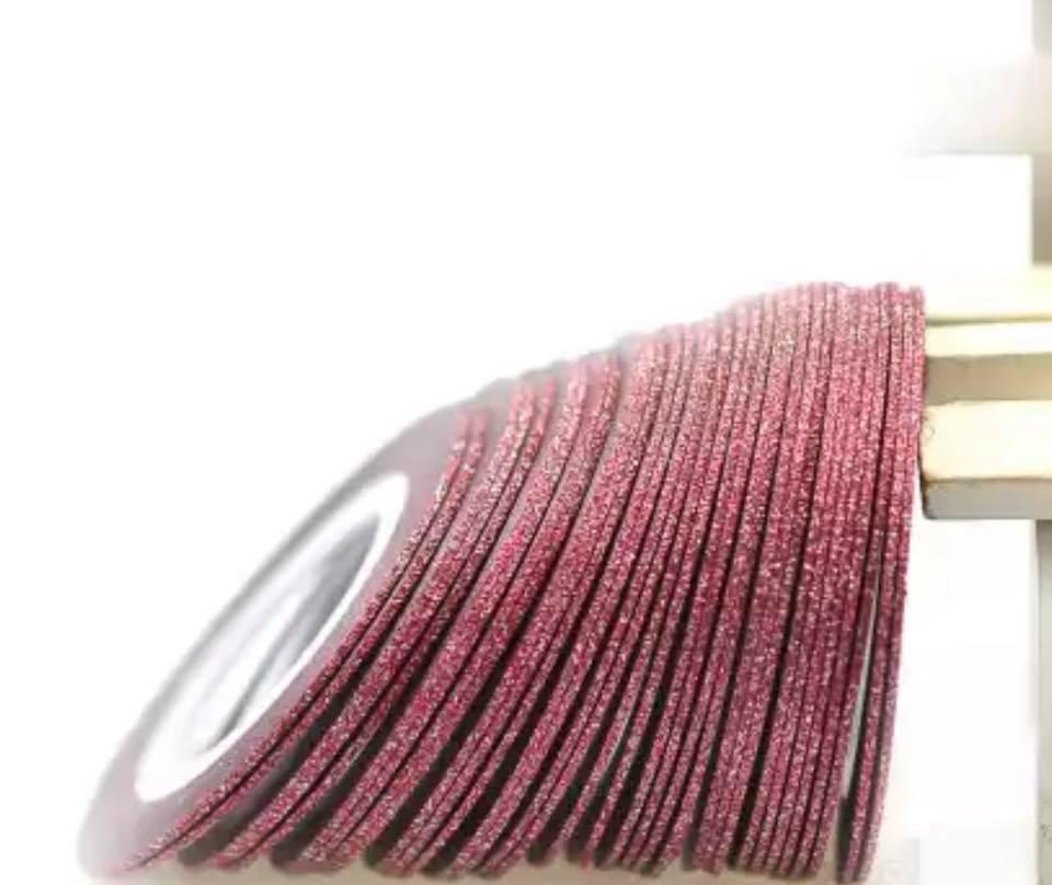 Цукрова нитка для нігтів в рулоні STZ червоний 1 мм