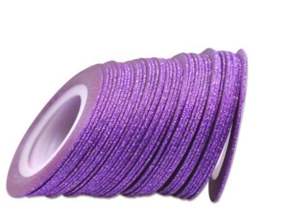 Цукрова нитка для нігтів в рулоні STZ фіолетовий 1 мм