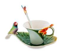 Фарфоровая Чайная пара Попугай Pavone FM- 33/ 2, фото 1