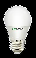 Светодиодная лампа-шарик ECOLAMP LED G45 E27 5Вт 500Лм с нейтральным светом