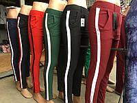 Женские стильные брюки с лампасами, цвета в наличии