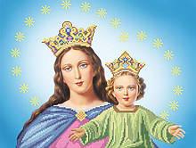 А-506. Схема для вишивки бісером Діва Марія з Ісусом.