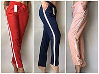 Ткань софт С лампасами Женские летние брюки , фото 1