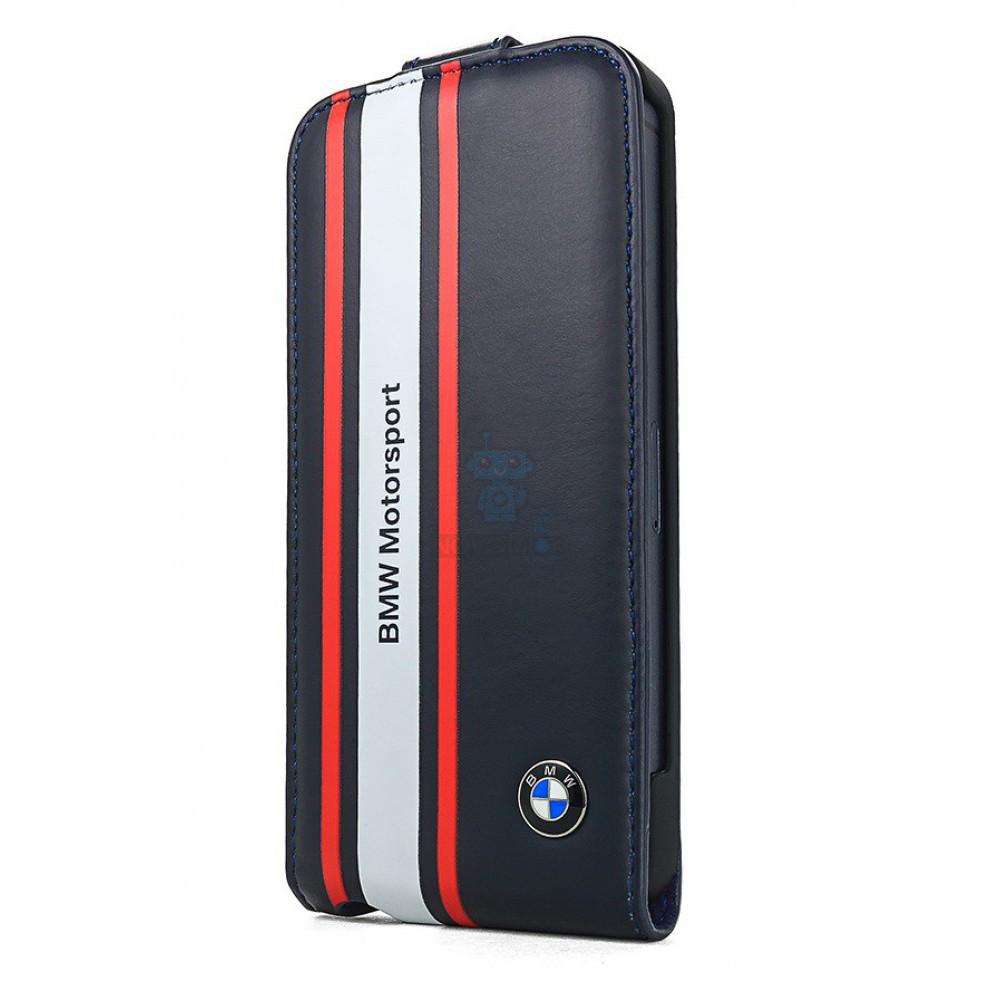 Чехол-флип BMW M-Collection Flip Case для iPhone 5, 5S - темно синий (