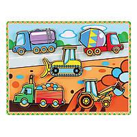 Рамка-вкладыш Спецмашины, 5 элементов, Viga Toys (56439)